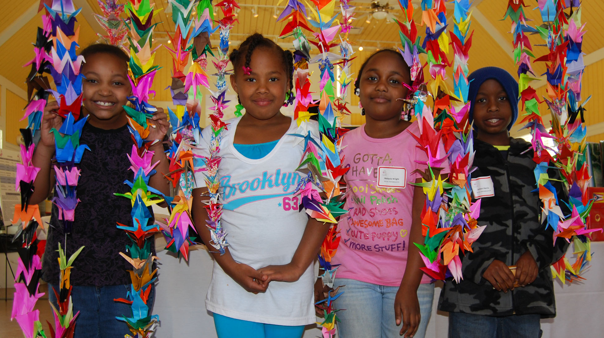Columbus school children create origami cranes for students in Japan affected by a natural disaster